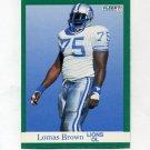 1991 Fleer Football #242 Lomas Brown - Detroit Lions