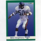 1991 Fleer Football #225 Mike Singletary - Chicago Bears