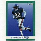 1991 Fleer Football #217 Wendell Davis - Chicago Bears