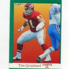 1991 Fleer Football #090 Tim Grunhard - Kansas City Chiefs
