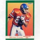 1991 Fleer Football #057 Michael Young - Denver Broncos