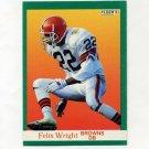 1991 Fleer Football #042 Felix Wright - Cleveland Browns