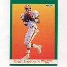 1991 Fleer Football #037 Reggie Langhorne - Cleveland Browns