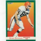 1991 Fleer Football #031 Brian Brennan - Cleveland Browns