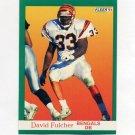 1991 Fleer Football #021 David Fulcher - Cincinnati Bengals