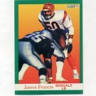 1991 Fleer Football #020 James Francis - Cincinnati Bengals