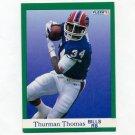 1991 Fleer Football #014 Thurman Thomas - Buffalo Bills