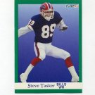 1991 Fleer Football #013 Steve Tasker - Buffalo Bills