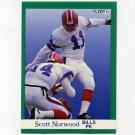1991 Fleer Football #006 Scott Norwood - Buffalo Bills
