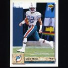 1992 Upper Deck Football #506 Scott Miller - Miami Dolphins