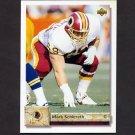 1992 Upper Deck Football #502 Mark Schlereth RC - Washington Redskins