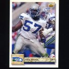 1992 Upper Deck Football #472 Tony Woods - Seattle Seahawks