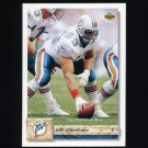 1992 Upper Deck Football #464 Jeff Uhlenhake - Miami Dolphins