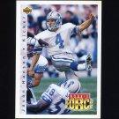 1992 Upper Deck Football #411 Jason Hanson RC - Detroit Lions