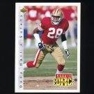 1992 Upper Deck Football #410 Dana Hall RC - San Francisco 49ers