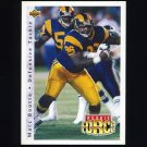 1992 Upper Deck Football #403 Marc Boutte RC - Los Angeles Rams