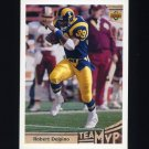 1992 Upper Deck Football #373 Robert Delpino MVP - Los Angeles Rams