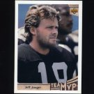 1992 Upper Deck Football #372 Jeff Jaeger MVP - Los Angeles Raiders
