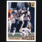 1992 Upper Deck Football #358 Ronnie Harmon MVP UER - San Diego Chargers