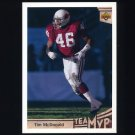 1992 Upper Deck Football #357 Tim McDonald MVP - Phoenix Cardinals