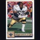 1992 Upper Deck Football #346 Vaughan Johnson - New Orleans Saints