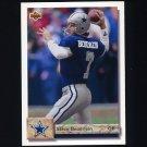 1992 Upper Deck Football #341 Steve Beuerlein - Dallas Cowboys