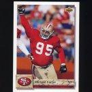 1992 Upper Deck Football #201 Michael Carter - San Francisco 49ers