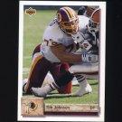 1992 Upper Deck Football #125 Tim Johnson - Washington Redskins