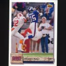 1992 Upper Deck Football #124 Stephen Baker - New York Giants