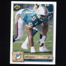 1992 Upper Deck Football #118 Jeff Cross - Miami Dolphins