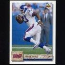 1992 Upper Deck Football #067 Jarrod Bunch - New York Giants
