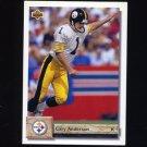 1992 Upper Deck Football #059 Gary Anderson - Pittsburgh Steelers