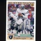 1992 Upper Deck Football #031 Todd Marinovich ART - Los Angeles Raiders