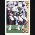 1992 Upper Deck Football #003 Eddie Blake RC - Miami Dolphins