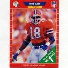1989 Pro Set Football #501 Louis Oliver RC - Miami Dolphins