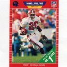 1989 Pro Set Football #488 Donnell Woolford RC - Chicago Bears