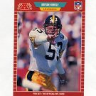 1989 Pro Set Football #347 Brian Hinkle RC - Pittsburgh Steelers