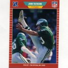 1989 Pro Set Football #322 John Teltschik - Philadelphia Eagles