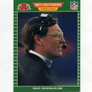 1989 Pro Set Football #181 Marty Schottenheimer CO - Kansas City Chiefs