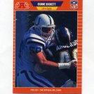 1989 Pro Set Football #157 Duane Bickett - Indianapolis Colts