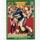 1989 Pro Set Football #017 Cornelius Bennett - Buffalo Bills