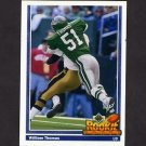 1991 Upper Deck Football #628 William Thomas RC - Philadelphia Eagles
