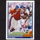 1991 Upper Deck Football #609 Kenny Walker RC - Denver Broncos