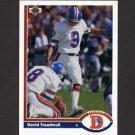 1991 Upper Deck Football #496 David Treadwell - Denver Broncos