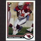 1991 Upper Deck Football #449 Anthony Thompson - Phoenix Cardinals