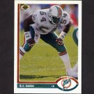 1991 Upper Deck Football #411 E.J. Junior - Miami Dolphins