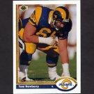 1991 Upper Deck Football #383 Tom Newberry - Los Angeles Rams