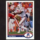 1991 Upper Deck Football #375 Fred Marion - New England Patriots