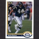 1991 Upper Deck Football #350 Martin Bayless - San Diego Chargers