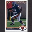 1991 Upper Deck Football #339 Lemuel Stinson - Chicago Bears